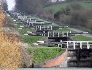Caen Hill Locks in Devizes