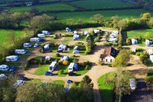 Plough lane caravan site from air