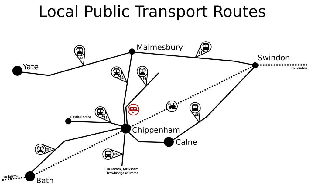 plough-lane-caravan-site-public-transport-map