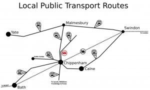 Plough lane caravan site public transport map