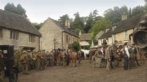 Filming For War Horse (2011) at Castle Coombe